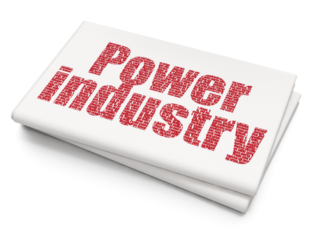 power industry: Industry concept: Pixelated red text Power Industry on Blank Newspaper background Stock Photo