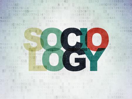 sociologia: El estudio de concepto: Pintadas texto multicolor Sociolog�a en el fondo papel digital