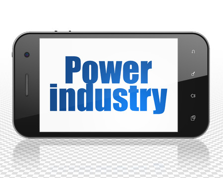 power industry: Industry concept: Smartphone with blue text Power Industry on display