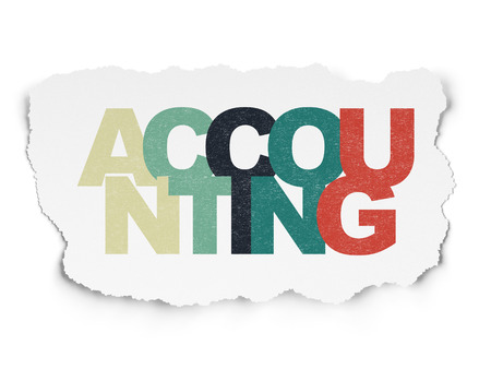 banking concept: Banking concept: Painted multicolor text Accounting on Torn Paper background