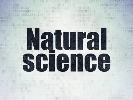 natural science: Science concept: Painted black word Natural Science on Digital Paper background