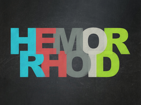 hemorrhoid: Health concept: Painted multicolor text Hemorrhoid on School Board background