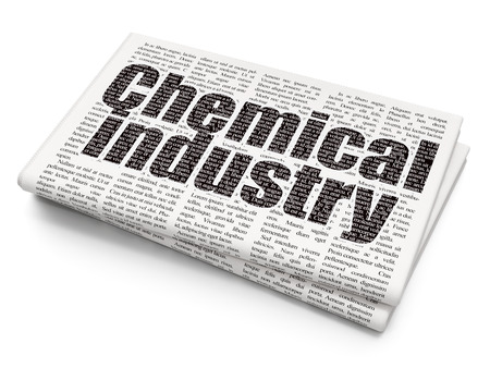 additional chemicals: Industry concept: Pixelated black text Chemical Industry on Newspaper background