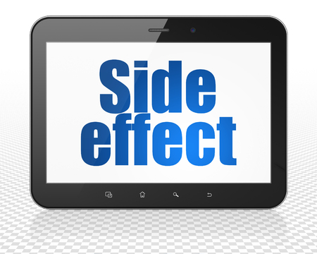 side effect: Health concept: Tablet Pc Computer with blue text Side Effect on display Stock Photo