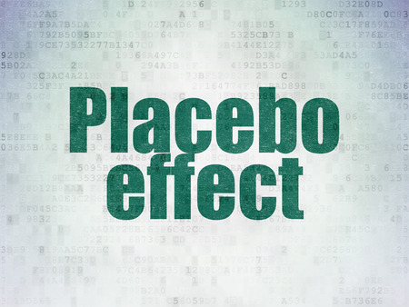 placebo: Medicine concept: Painted green word Placebo Effect on Digital Paper background