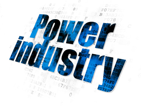 power industry: Industry concept: Pixelated blue text Power Industry on Digital background
