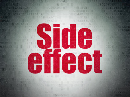 side effect: Healthcare concept: Painted red word Side Effect on Digital Paper background