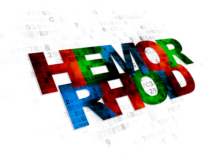 hemorrhoid: Medicine concept: Pixelated multicolor text Hemorrhoid on Digital background
