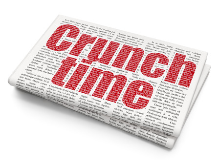 crunch: Business concept: Pixelated red text Crunch Time on Newspaper background