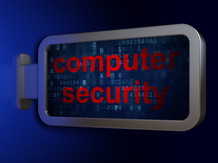 passkey: Security concept: Computer Security on advertising billboard background, 3d render Stock Photo