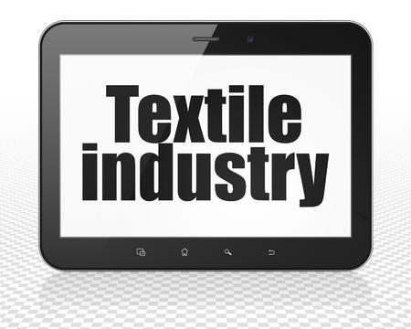 industria textil: Concepto de la industria: Tablet PC con el texto negro de la Industria Textil en la pantalla