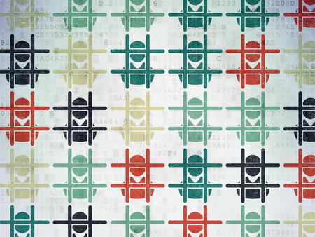 criminal: Law concept: Painted multicolor Criminal icons on Digital Paper background Stock Photo