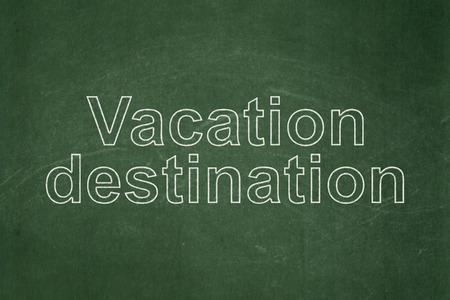 vacation destination: Travel concept: text Vacation Destination on Green chalkboard background