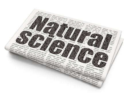 natural science: Science concept: Pixelated black text Natural Science on Newspaper background