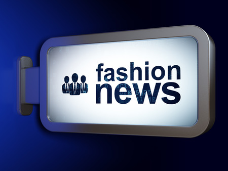 bad news: News concept: Fashion News and Business People on advertising billboard background, 3d render