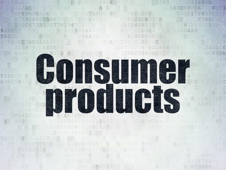 consumer products: Finance concept: Painted black word Consumer Products on Digital Paper background