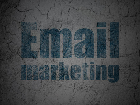 grungy email: Finance concept: Blue Email Marketing on grunge textured concrete wall background