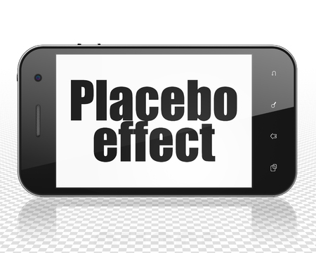 placebo: Health concept: Smartphone with black text Placebo Effect on display
