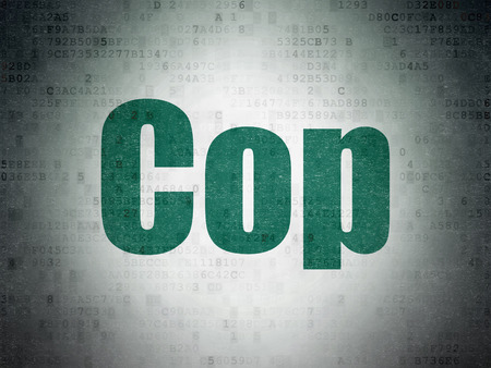 data protection act: Law concept: Painted green word Cop on Digital Paper background