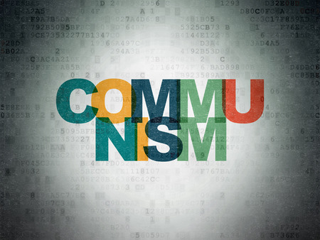 communism: Political concept: Painted multicolor text Communism on Digital Paper background Stock Photo