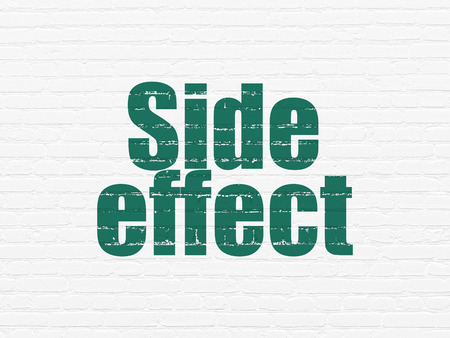 side effect: Health concept: Painted green text Side Effect on White Brick wall background Stock Photo