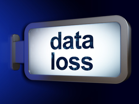 data loss: Information concept: Data Loss on advertising billboard background, 3d render