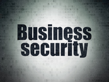 passkey: Safety concept: Painted black word Business Security on Digital Paper background