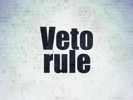 weta: Politics concept: Painted black word Veto Rule on Digital Paper background