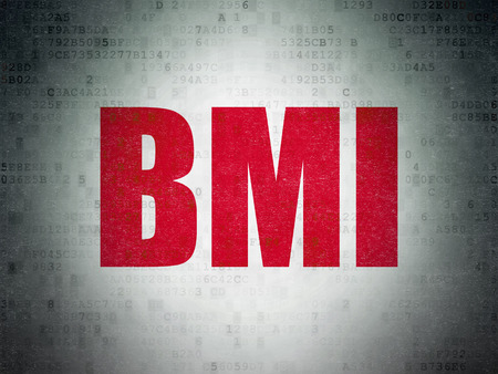 bmi: Healthcare concept: Painted red word BMI on Digital Paper background Stock Photo