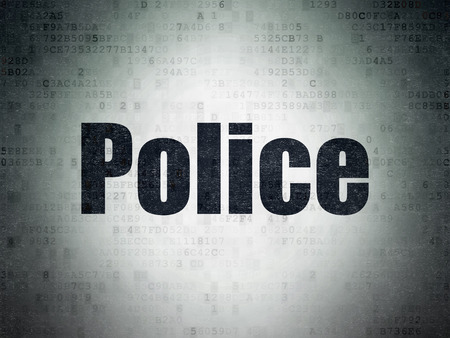 data protection act: Law concept: Painted black word Police on Digital Paper background
