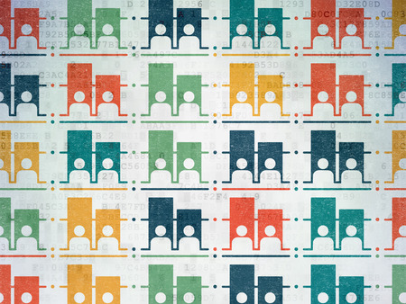dictatorship: Political concept: Painted multicolor Election icons on Digital Paper background Stock Photo