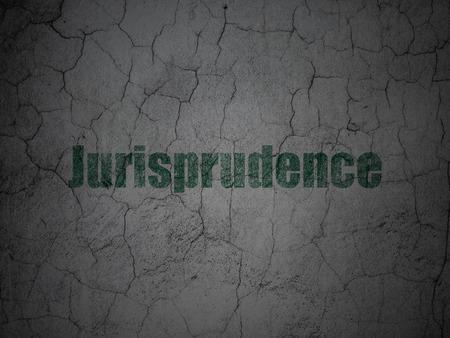 jurisprudencia: Concepto de la ley: Jurisprudencia Verde sobre grunge textura de fondo de pared de hormigón