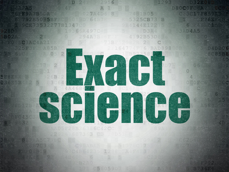 exact science: Science concept: Painted green word Exact Science on Digital Paper background Stock Photo
