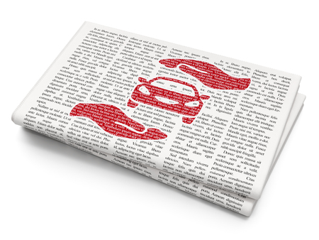 Crash Test, Newspaper Article Text Stock Photo, Picture And