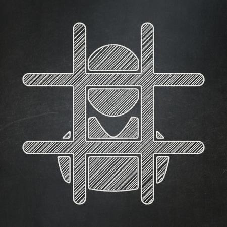 criminal: Law concept: Criminal icon on Black chalkboard background
