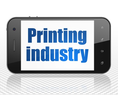printing industry: Industry concept: Smartphone with blue text Printing Industry on display