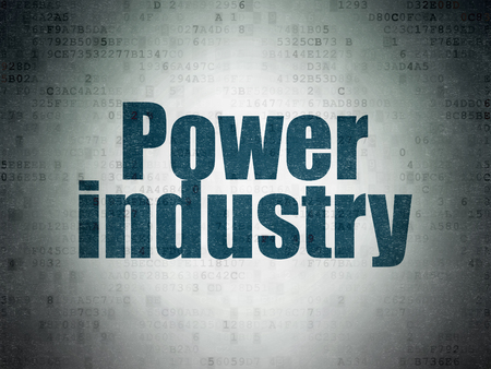power industry: Industry concept: Painted blue word Power Industry on Digital Paper background