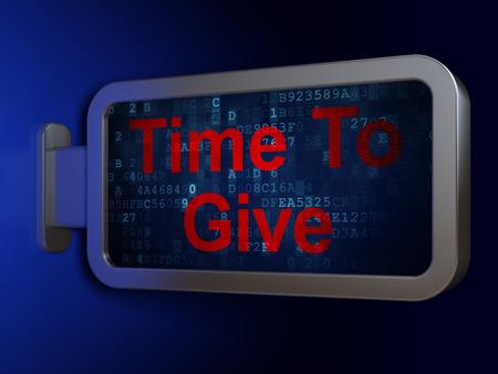 cronologia: Concepto de tiempo: hora de dejar en publicidad fondo cartelera, 3d