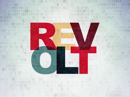 revolt: Politics concept: Painted multicolor text Revolt on Digital Paper background