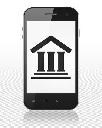courthouse: Law concept: Smartphone with black Courthouse icon on display