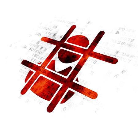 criminal: Law concept: Pixelated red Criminal icon on Digital background