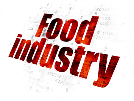 food industry: Industry concept: Pixelated red text Food Industry on Digital background