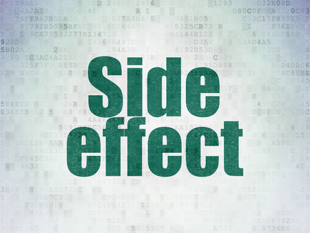 side effect: Healthcare concept: Painted green word Side Effect on Digital Paper background