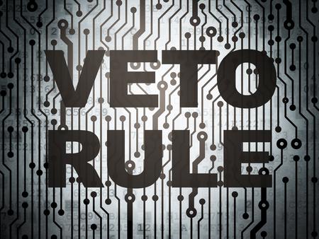 weta: Political concept: circuit board with  word Veto Rule, 3d render Zdjęcie Seryjne