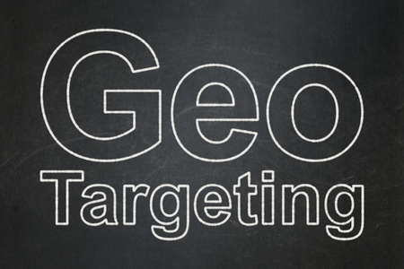 targeting: Business concept: text Geo Targeting on Black chalkboard background