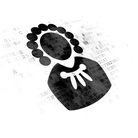 lex: Law concept: Pixelated black Judge icon on Digital background