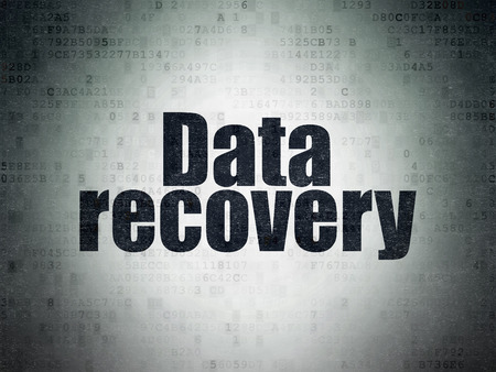 data recovery: Information concept: Painted black word Data Recovery on Digital Paper background Stock Photo