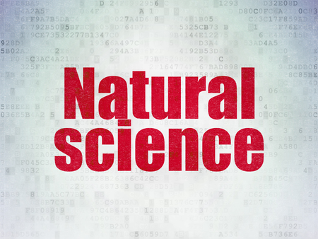 natural science: Science concept: Painted red word Natural Science on Digital Paper background