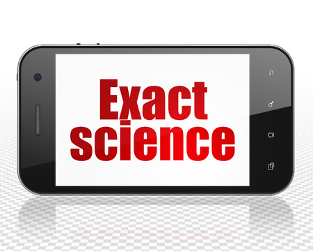 exact science: Science concept: Smartphone with red text Exact Science on display