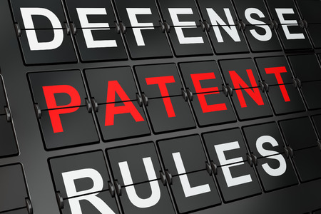 data protection act: Law concept: Patent on airport board background, 3d render